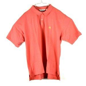 Brooks Brothers Casual Polo Shirt. Peach XL